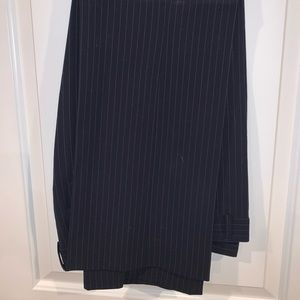 J.Crew City Fit stretch trouser blue pinstripe